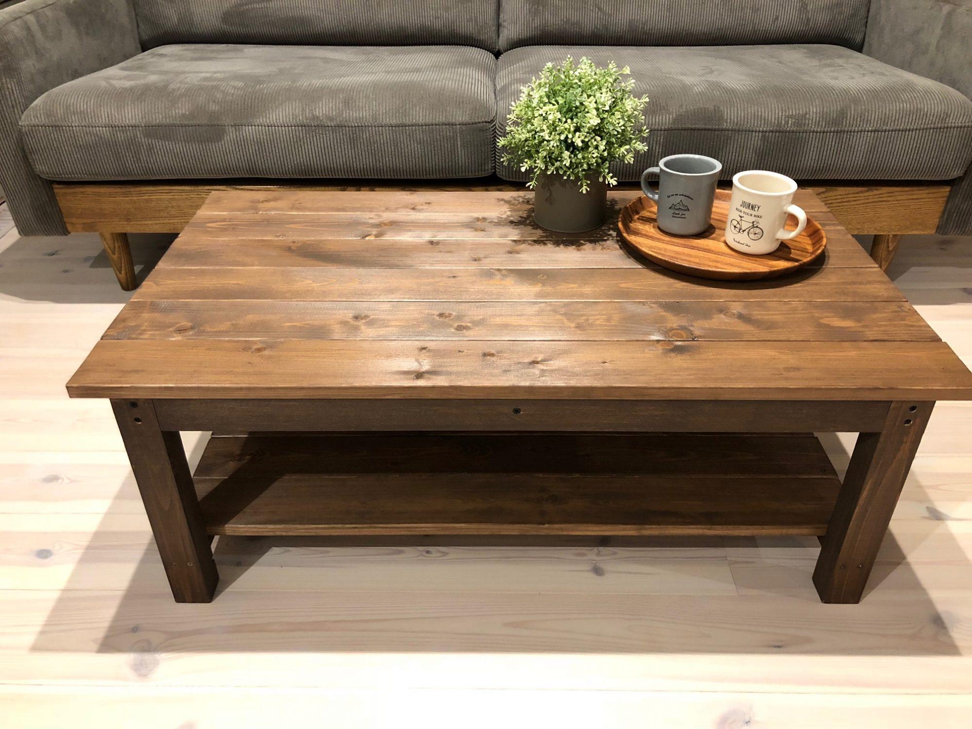 センターテーブル重厚感スタイル